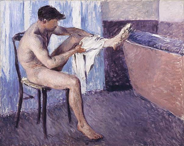 man-drying-his-leg